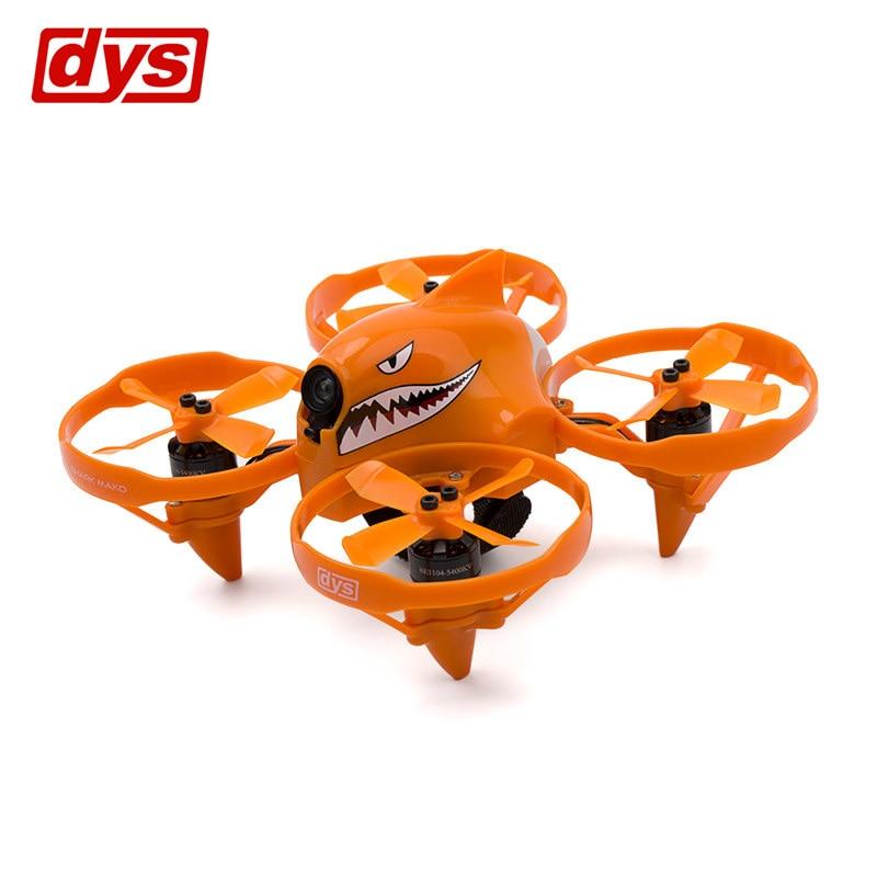 DYS Shark-Mako 100mm FPV Racing Drone BNF W/ F4 Flight Controller 5.8G 25/200mW VTX Blheli_S 18A ESC Orange Grey VS Eachine E013 колонка nogo f4 orange