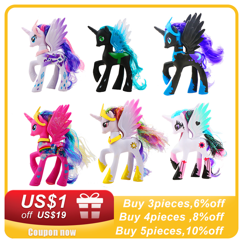 hasbro my little pony toys friendship is magic pop pinkie pie rainbow series pony pvc action figures colletion model dolls a2004 14cm Hasbro My Little Pony Toys Friendship is Magic Pop Pinkie Pie Rainbow Unicorn Pony PVC Action Figures Colletion Model Dolls