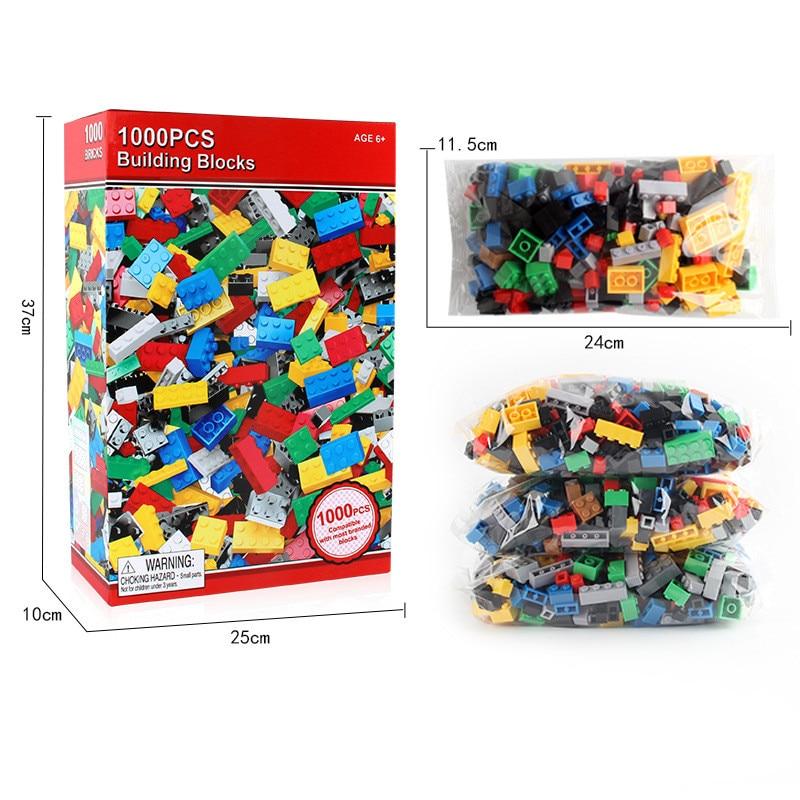 1000 komada Građevni blokovi DIY Kids Creative Bricks Brinquedos - Izgradnja igračke - Foto 2