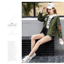 women jacket jacket women Casual loose short coat fashion cartoon collage jacket