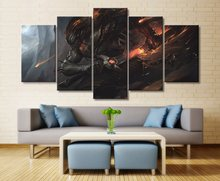 Canvas Wall Art For Living Room Artwork Painting 5 Piece HD Print Games League of Legends