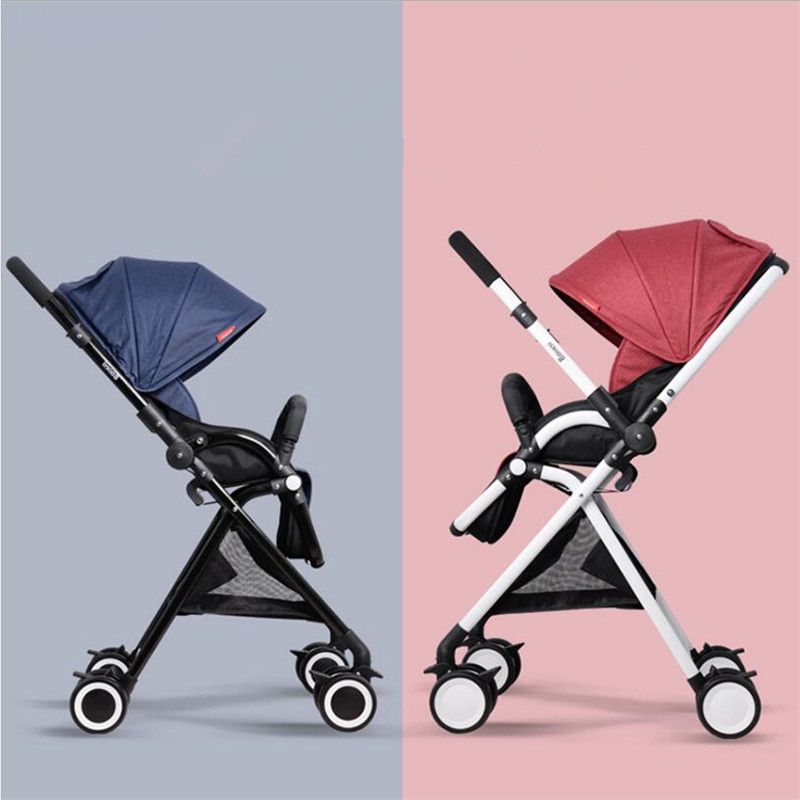 Lightweight Portable Baby Stroller Mini Size Baby Carriage For Newborns 3 in 1 Pram Pushchairs Can Sit Or Lie Kinderwagen folding baby stroller lightweight baby prams for newborns high landscape portable baby carriage sitting lying 2 in 1