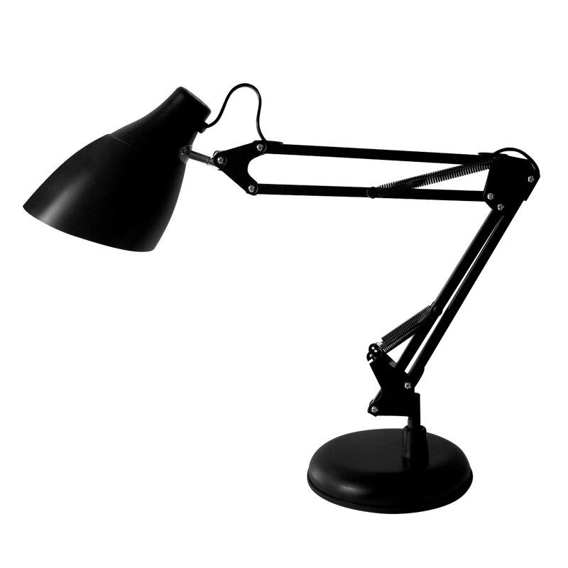 Adjustable Led Iron Table Lamp With E27 Edison Bulb