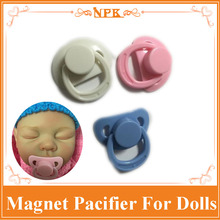 Best Price 5cm Good Quality Different Colour Magnet Pacifier For Reborn Baby Doll /Reborn Doll Hot Doll Accessory For Baby Doll