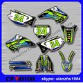 FREE SHIPPING KX 125 250 03 04 05 06 07 08 3M GRAPHICS BACKGROUND DECALS STICKERS KITS FOR RACING MOTORCYCLE