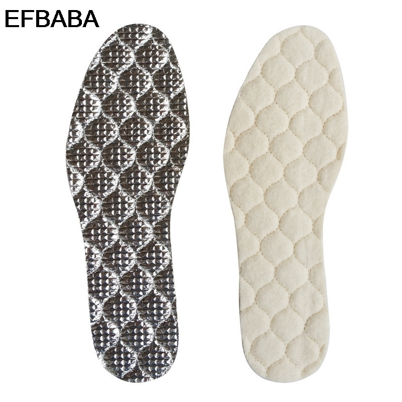 EFBABA Winter Wool Warm Shoes Insoles Thermal Insulation Fur Insole Men Women Shoe Pad Inserts Accessories Chaussure Wholesale efbaba insoles for heels non slip adhesive shoe insole super strong high heel shoes soles rubber shoe pad accessories wholesale