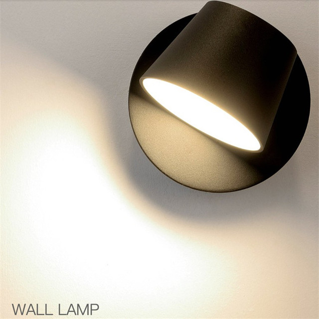 Nordic Simple Modern LED Wall Light Fixtures Rotating Bedside Wall Lamp Iron Creative Switch Read Wall Sconce Home Lighting