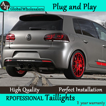 A&T Car Styling for VW Golf 6 Tail Lights 2009-2012 Golf 6 R LED Tail Light Golf6 Rear Lamp LED DRL+Brake+Park+Signal