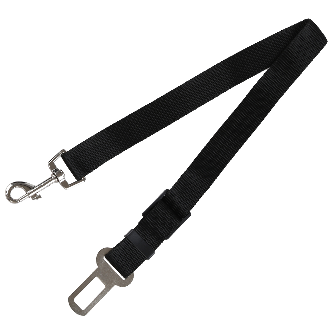 Pet dog car safety chest strap + Pet dog car seat belt - Secure Your Pet While Driving(Black M)