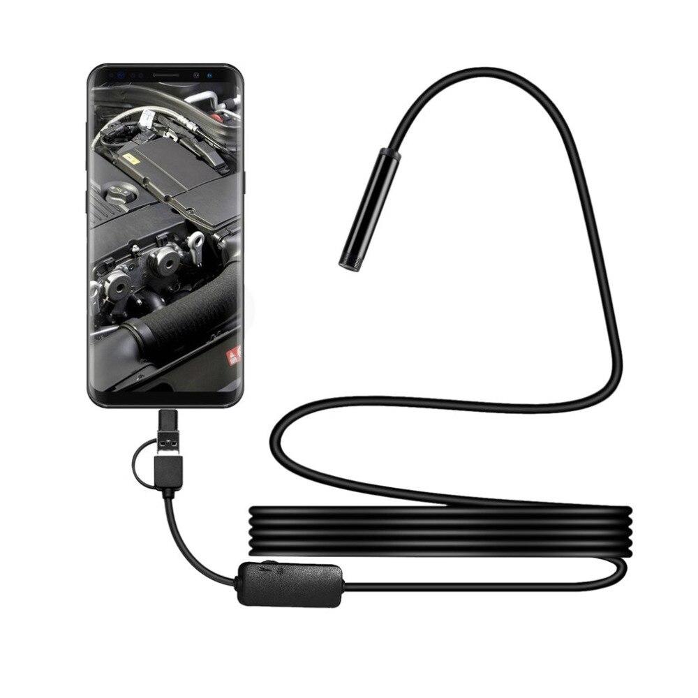 IP67 1200 P Android 8mm Micro USB tipo-c USB 3-en-1 ordenador endoscopio tubo USB impermeable de inspección Mini cámara de Video