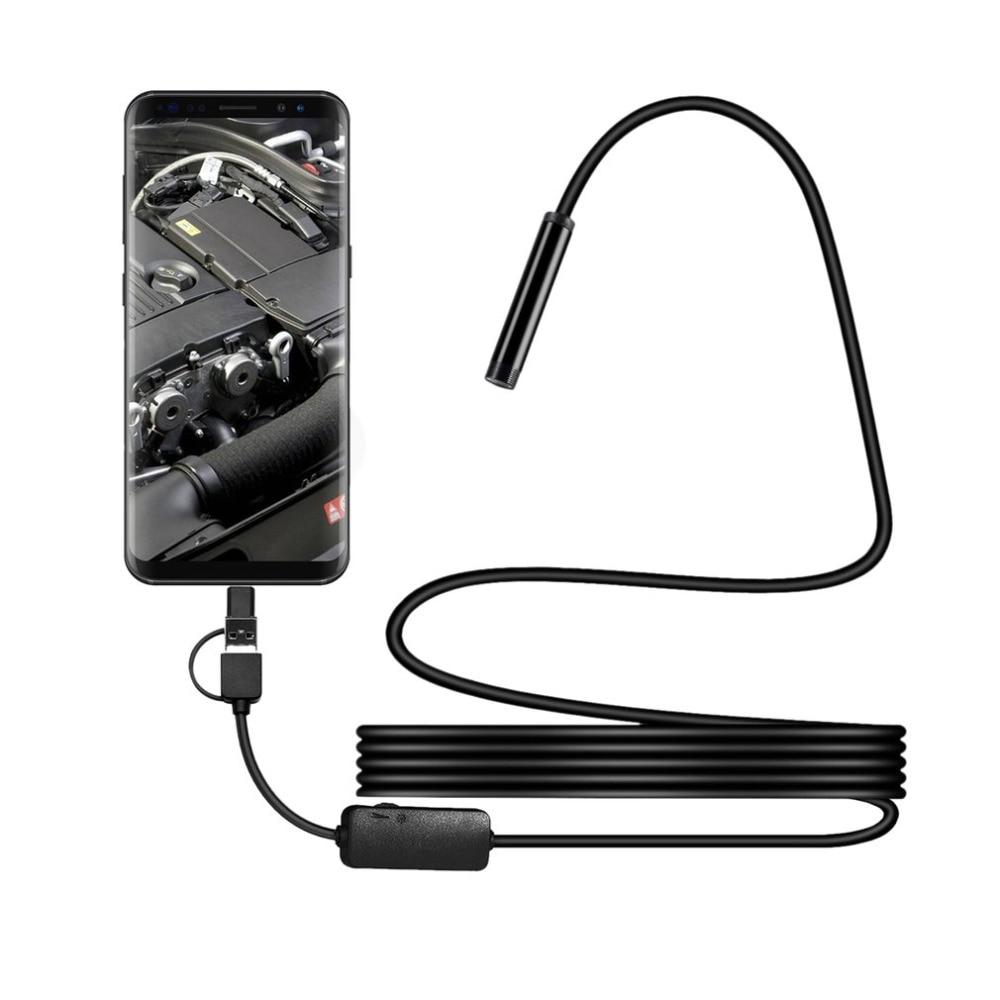 IP68 1200 P Android 8 MM Micro USB Type-c USB 3-in-Computer di Controllo USB Del Periscopio Dell'endoscopio Del Tubo Impermeabile Mini Videocamera