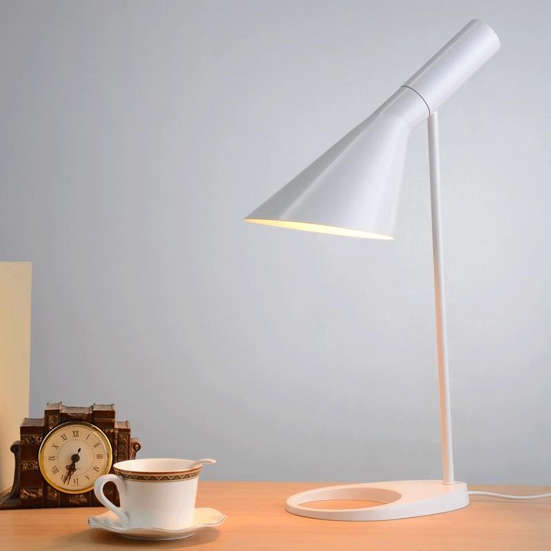 Replica Louis Poulsen Arne Jacobsen Table lamp 5 colors for option. Europe AJ Desk Lamp Cafe Aisle Hall read Lamp LED bulb E27 цена