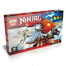 318pcs Ninjagoed Minifigures Zeppelin Doubloon Clancee JAY Ninja Raid Zeppelin Weapon Building Blocks
