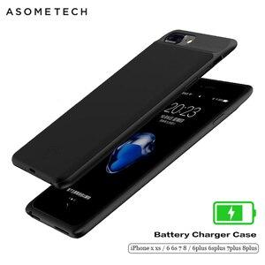 Image 1 - Batterij Case Voor Iphone X Xs Zachte Dunne Powerbank Case Voor Iphone 6 7 8 6S Plus Power Bank batterij Oplader Case Cover Voor Iphone