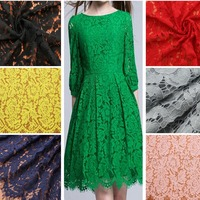 140x140CM Flower Lace Trimmings Candy Color Eyelash Lace Fabric For Garment Embellishment Cloth Sewing Accessories Ss