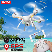 hot deal buy new arrival syma x8pro gps rc drone with wifi camera hd fpv selfie drones 2.4g 4ch professional real-time quadcopter helicopter