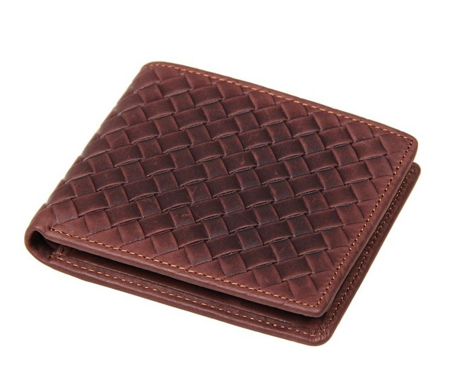 Nesitu Short Size Best Gift Genuine Leather Men Wallets Purse #M8077