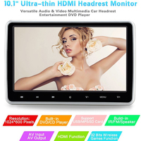 Vehicle Car Headrest DVD Game Player Auto 10.1 Inch Digital TFT HD LCD with HDMI Input Port Touch External Headrest Display