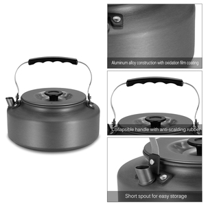 Image 5 - 1.6L Portable Kettle Water Pot Teapot Coffee Pot Indoor Whistling Aluminum Alloy Tea Kettle Outdoor Camping Hiking Picnic Pot