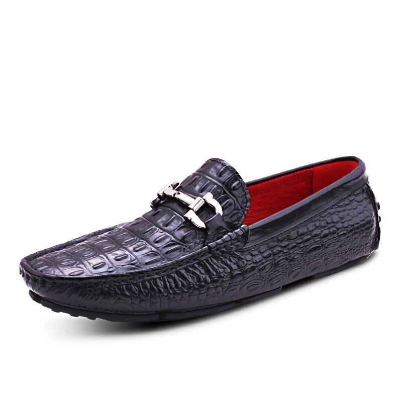 Hombres Masculino Botas marrón Sapato 2018 Los Diseñadores De Tinto Casuales Genuino Cuero Negro vino Mycoron Conducción Zapatos w75qBTq