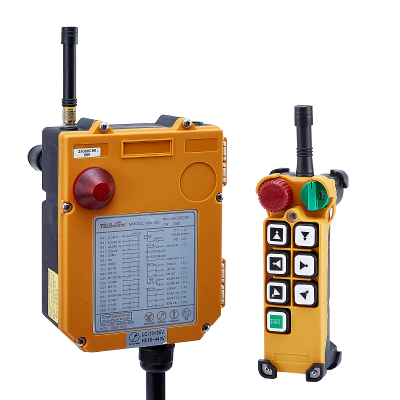 Telecontrol Brand F24-6D industrial Wireless Remote Control AC/DC universal Control for Crane 1transmitter and 1receiver