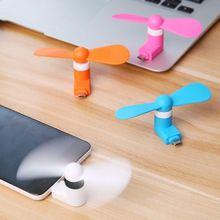 Mini ventilador portátil OTG ventilador micro USB ultradelgado súper fuerte para teléfono, escritorio, ordenador portátil, 3 colores opcionales
