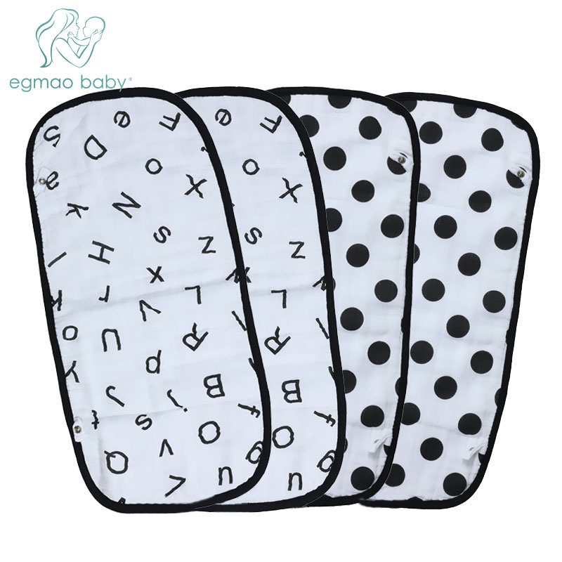 Baby Burp Cloths 100% Organic Cotton Muslin Baby Bib Bandanas Bibs Soft Breathable Newborns Towel Scarf