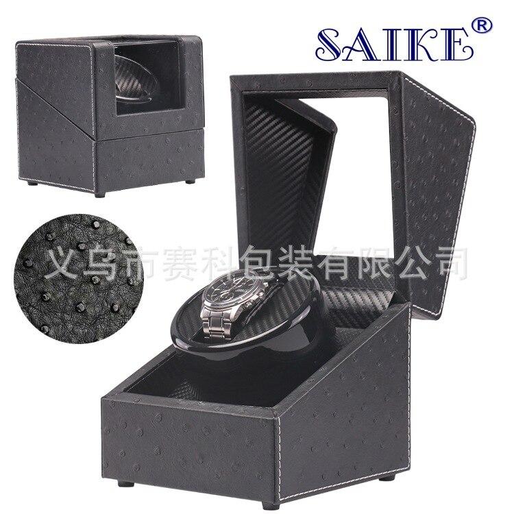 Haute classe moteur Shaker montre boîte boîtier montre remontoir titulaire affichage automatique mécanique bijoux montres boîte tourne-disque moteur