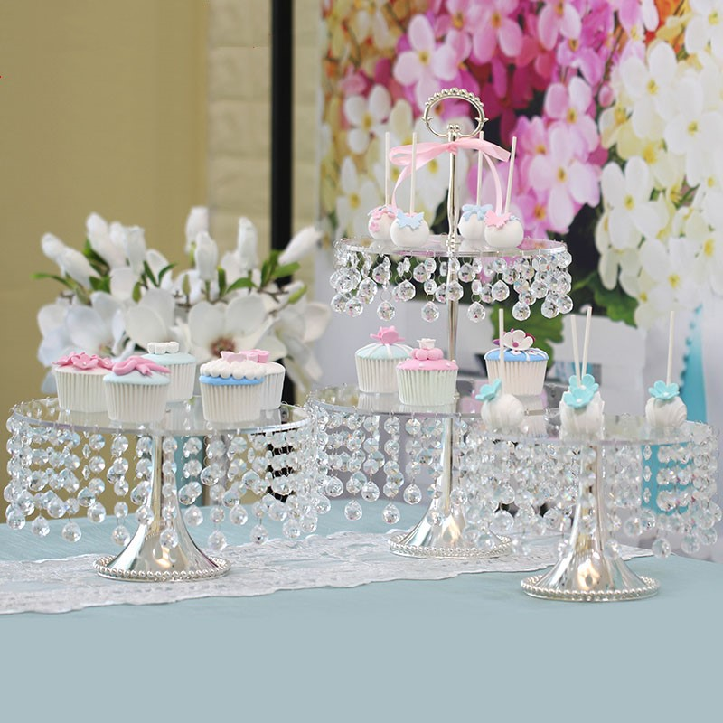 Dessert plates for wedding decoration Fruit trays Cake tray decor dessert decorations Cake tools(not include the cover)