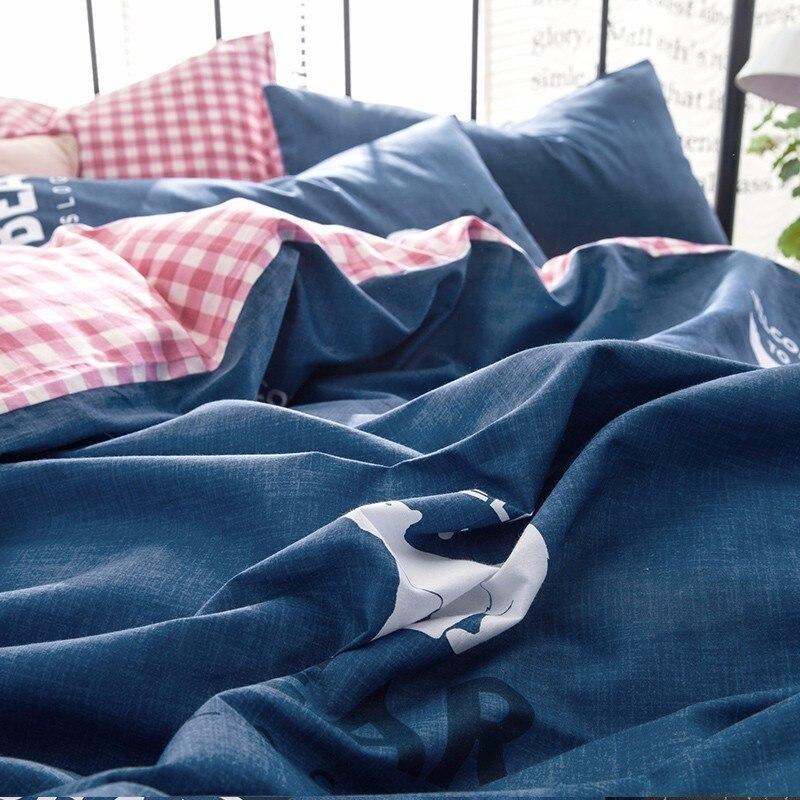 Solstice Домашний текстиль мультфильм Динозавр Пингвин Стиль 100% хлопковое постельное белье 4 шт. Набор пододеяльников для пуховых одеял кроват...