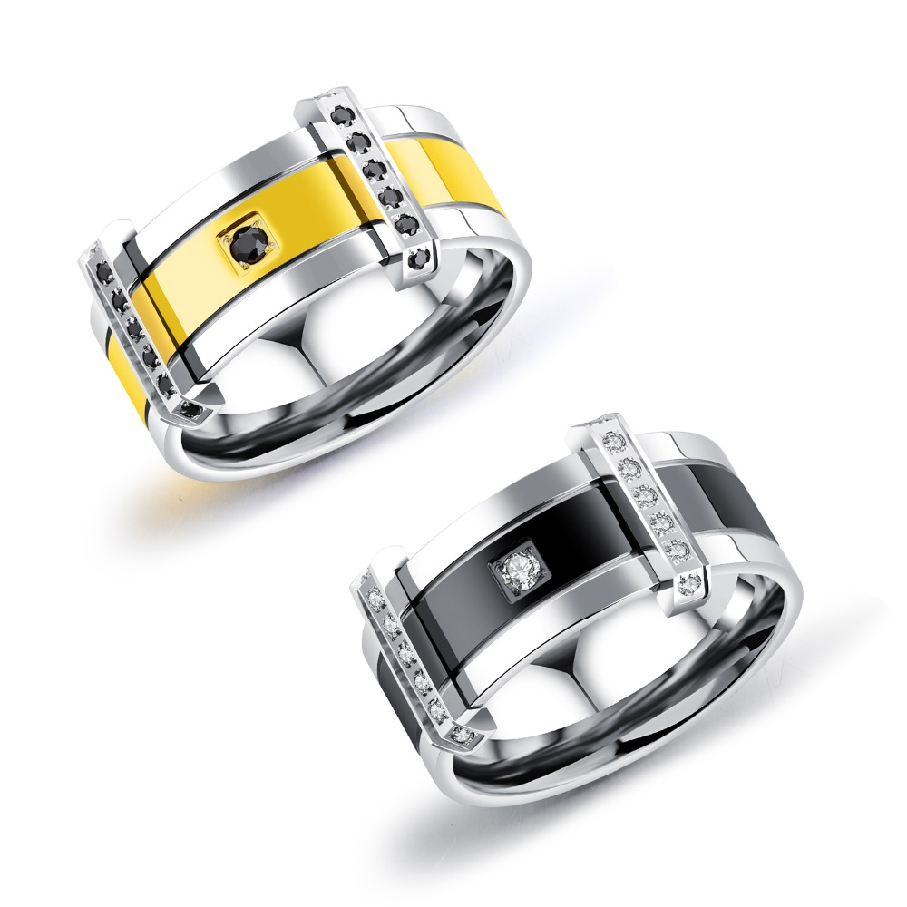 European and American accessories wholesale personality and aggressive men ring titanium ring GJ583