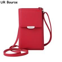 UR BOURSE Ladies Mobile Phone Bag Womens Large Capacity Purse Female Multi-card Wallet Girls Multi-functional Handbags