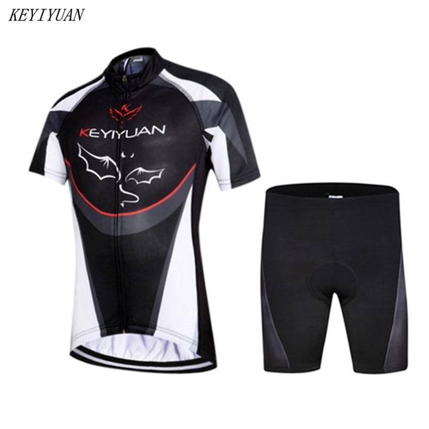 KEYIYUAN Children Cycling Jersey Bike Short Sleeve Jersey Bicycle Cycling Clothing For Kids summer sports racing bike jersey set