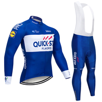 2018 Team QUICK STEP CYCLING Jersey Gel Pad Bike Shorts Ropa Ciclismo Mens Summer LONG SLEEVES
