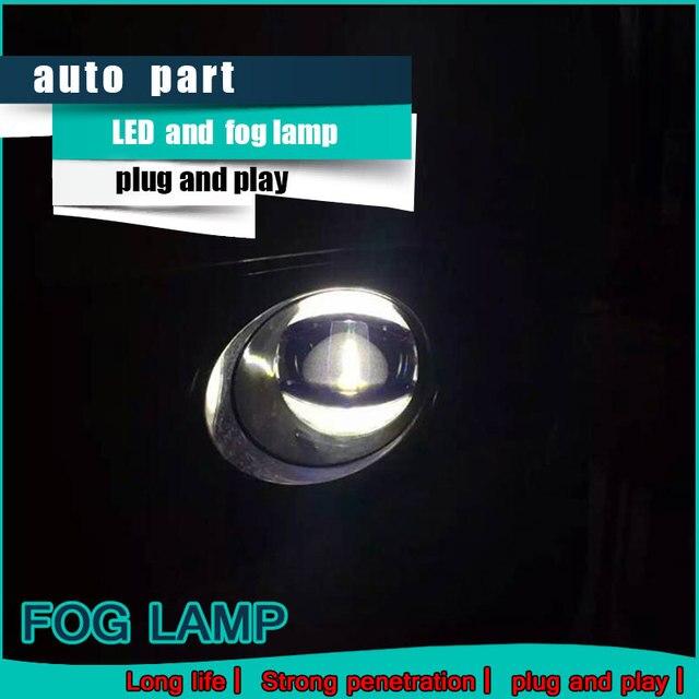 רכב סטיילינג בשעות היום ריצת אור עבור סובארו אאוטבק LED ערפל אור אוטומטי מלאך עין ערפל מנורת LED DRL גבוהה & נמוך קרן מהיר חינם