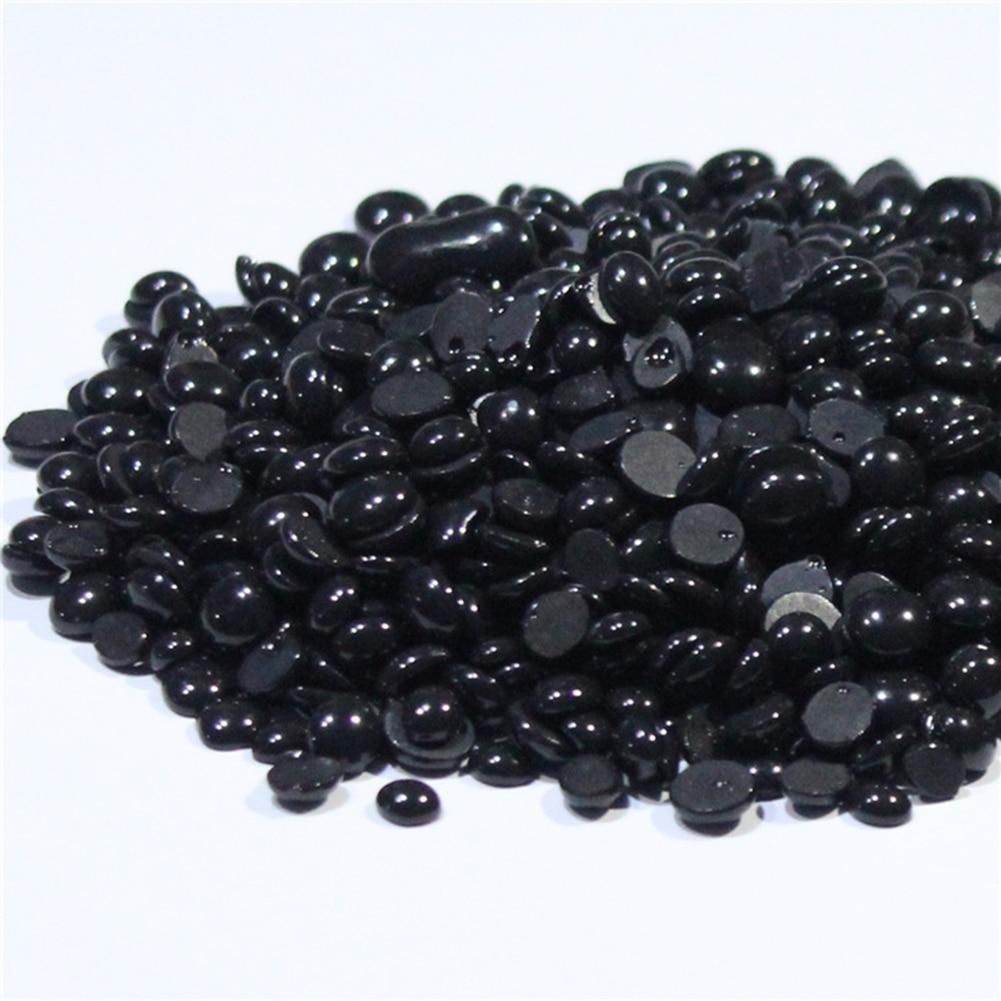 Black Depilatory Brazilian Wax Pellet Black Hot Film Hard Wax Beans For Men Women Hair Removal No Strip Hard Wax Beans 50g