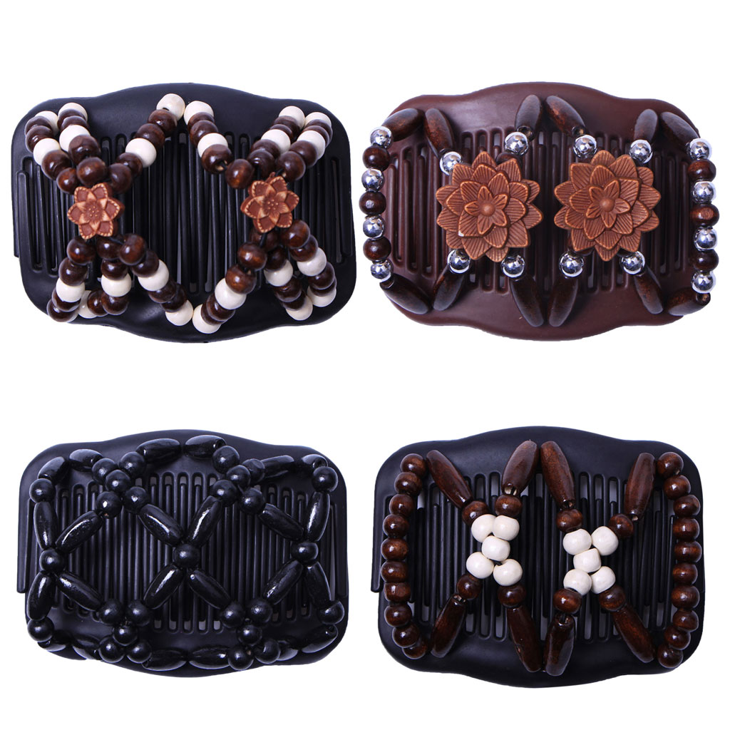 Beauty Thick Hair Double Clip Combs Bun Maker Hair Accessories For  Women Easy Updo Holds Long Short Hair