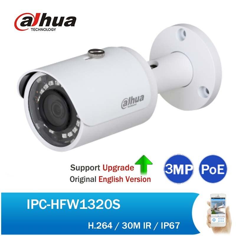 Dahua IPC-HFW1320S 3MP Mini 30M IR Bullet IP Camera Full HD Security CCTV Day/Night Infrared PoE Network Camera DH-IPC-HFW1320S