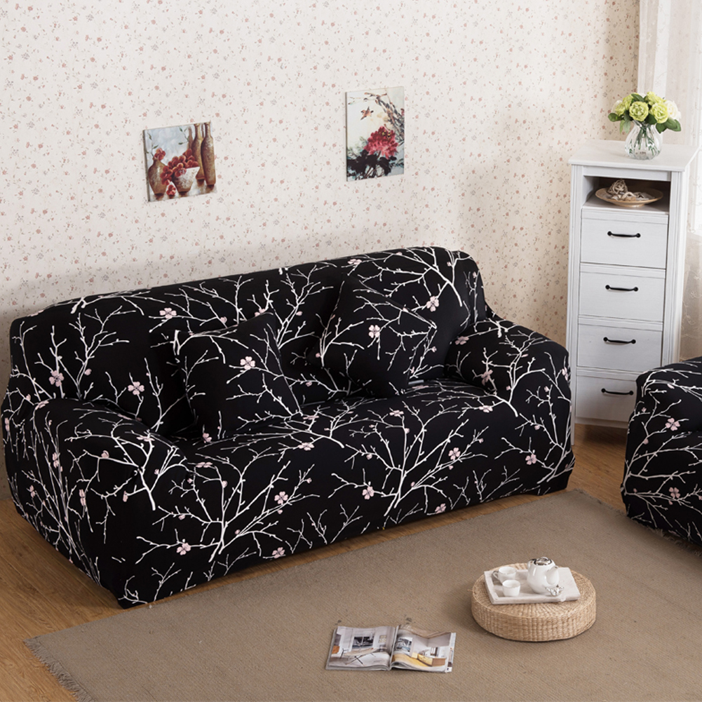 Stretch chaise sofa cover elasticity flexible printed for Canape sofa cover