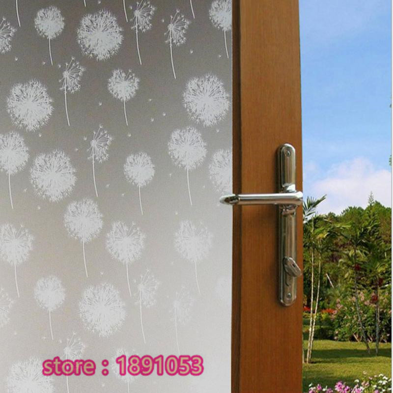 Dandelion PVC film stickers frosted glass bathroom toilet living room  window privacy glass sliding door stickers. Compare Prices on Frosted Glass Sliding Door  Online Shopping Buy