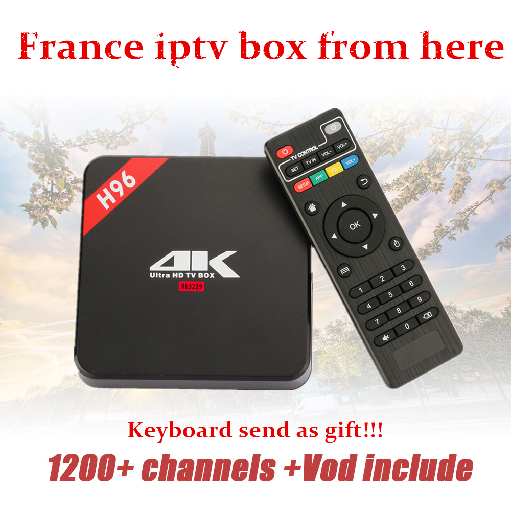 French IPTV Arabic IPTV Android tv Box H96 1 Year subscription free 1200 Channels KO QHDTV
