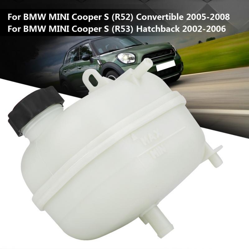 Réservoirs de carburant d'expansion de bouteille d'en-tête de réservoir d'expansion de moteur de voiture avec le chapeau pour BMW MINI R52 R53 COOPER S 17137529273