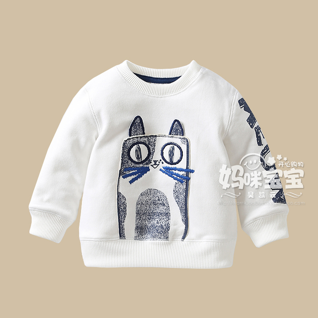 Baby boy girl  brand t shirts 2016 spring autumn new arrival children's pullover sweatshirt outerwear 100% cotton long-sleeve Te