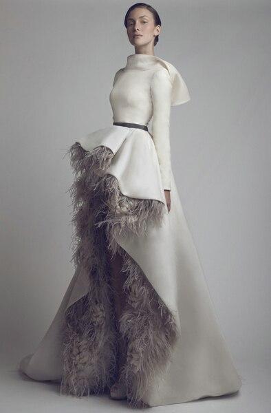 Demi Lovato White Feather Dress