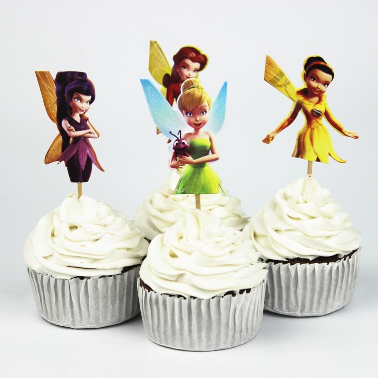 24pcs Tinker Bell Cupcake Topper Picksbirthdaywedding Party