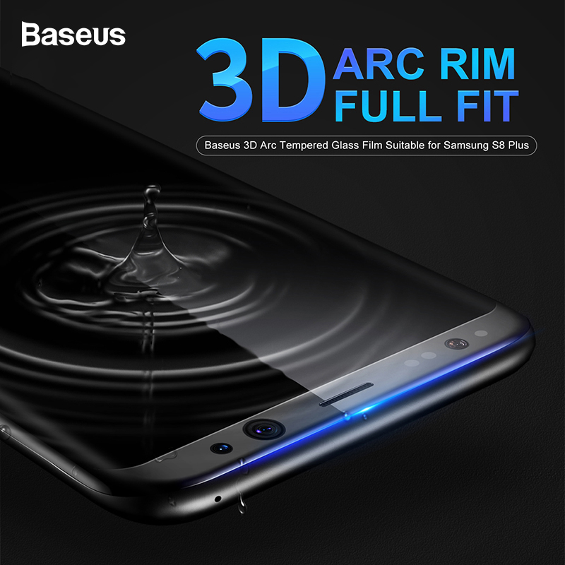 Baseus Screenprotector voor Samsung Galaxy S8 3D Arc Glass Film Voor Samsung Galaxy S8 Plus Volledig bedekte gehard glasfilm