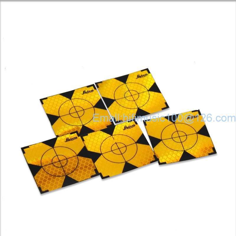 300pcs Yellow Reflector Sheet 20 x 20 mm Reflective Tape Target for Total Station ...