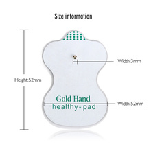 10pcs (5 pairs) Gold Hand Electrode Pads For Digital Therapy TENS Machine