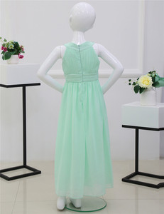 Image 4 - 4 14Y Kids Girls Embroidered Flower Formal Party Ball Gown Prom Princess Bridesmaid Wedding Children First Communion Tutu Dress