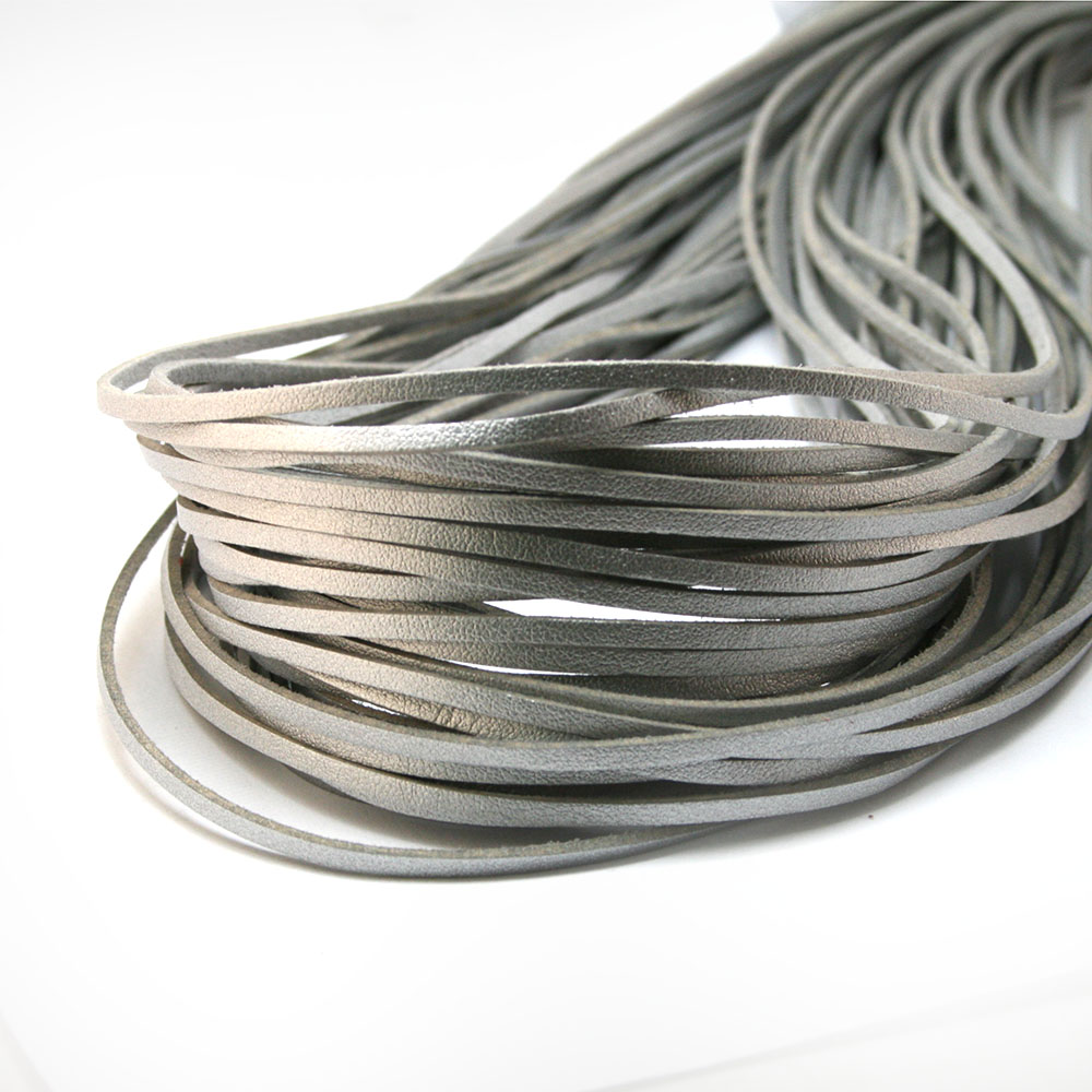 Best Sale 3mm 1M Silver Flat Faux Suede Korean Velvet Leather Cord String Rope Thread Jewelry Findings